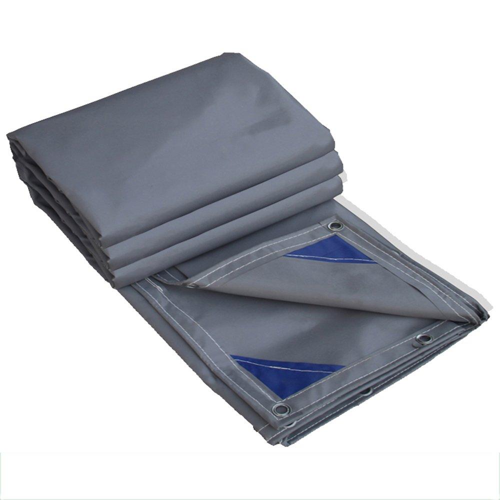 テントの防水シート ターポリンPVCコーティングクロスグレー厚0.6mm、600g/m²防水日射防止防風多機能シェードクロス それは広く使用されています (色 : グレー, サイズ さいず : 3*6m) B07DL5WJJ3 3*6m|グレー グレー 3*6m