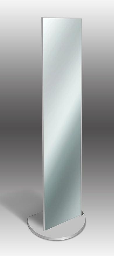 Espejo de pie elegante 40 x 160 cm, color gris: Amazon.es: Hogar