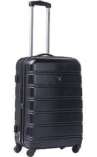 Kono Hard Shell 4 Wheels Hand Luggage Suitcase Cabin Light Plain ...