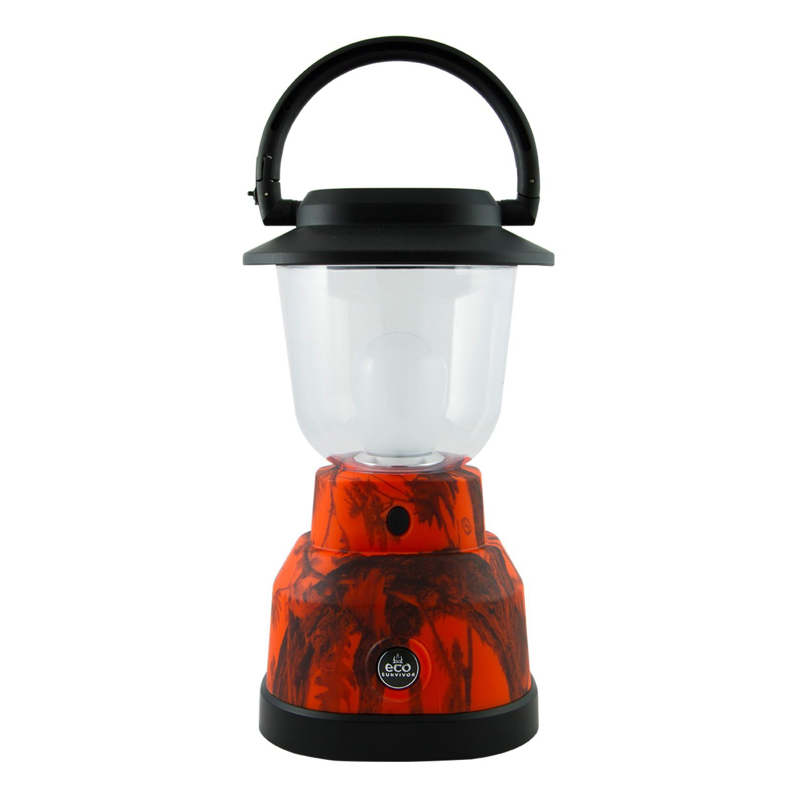 EcoSurvivor LED Lantern, Orange Camouflage, Outdoor, Waterproof, Lasts 180 Hours, Hanging Camping Lantern, Carabiner Handle, Great for Hiking, Storms, and Emergencies, 50% Charity Give Back, 14200