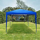 Quictent Privacy 10x20 EZ Pop Up Canopy Tent Party Tent Outdoor Event Gazebo Waterproof with Roller Bag- 4 Colors (Royal Blue)