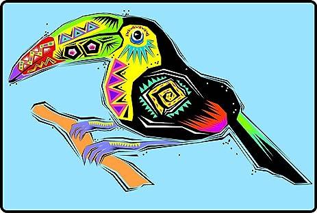 Amazoncom Festive Southwest Designed Toucan Bird Etched Vinyl - Bird window stickers amazon