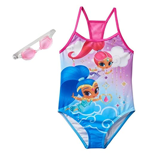 8a27f00a69a38 Image Unavailable. Image not available for. Color: Girls Shimmer & Shine  One-Piece Swimsuit ...