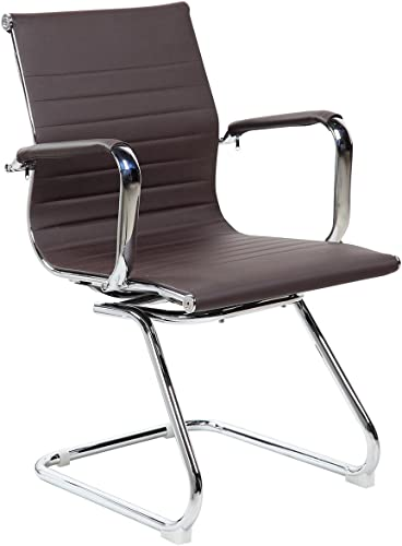 Techni Mobili Modern Visitor Office Chair Brown