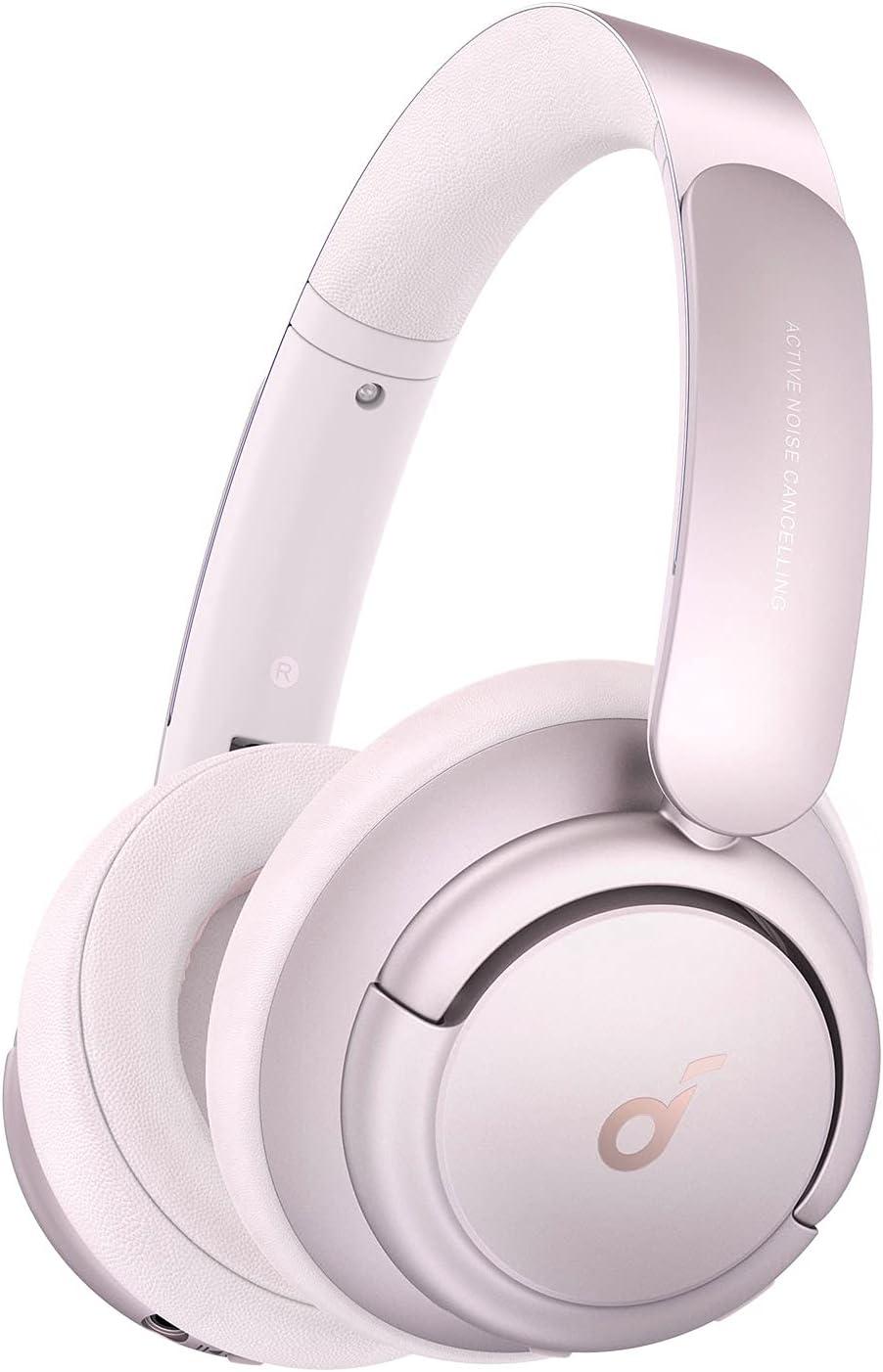 Anker Soundcore Life Q35(Bluetooth5.0 ワイヤレス ヘッドホン)【LDAC対応 / ウルトラノイズキャンセリング / ハイレゾ対応 (ワイヤレス / 有線) / 外音取り込みモード / NFC・Bluetooth対応 / 最大40時間音楽再生 / マイク内蔵 / 専用アプリ対応】ピンク
