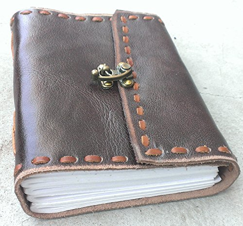 Antique Dark Brown Leather Journal Diary (Handmade)-Leather Cord Coptic bound 25% off Sale + SPECIAL OFFER NOW! (6.7