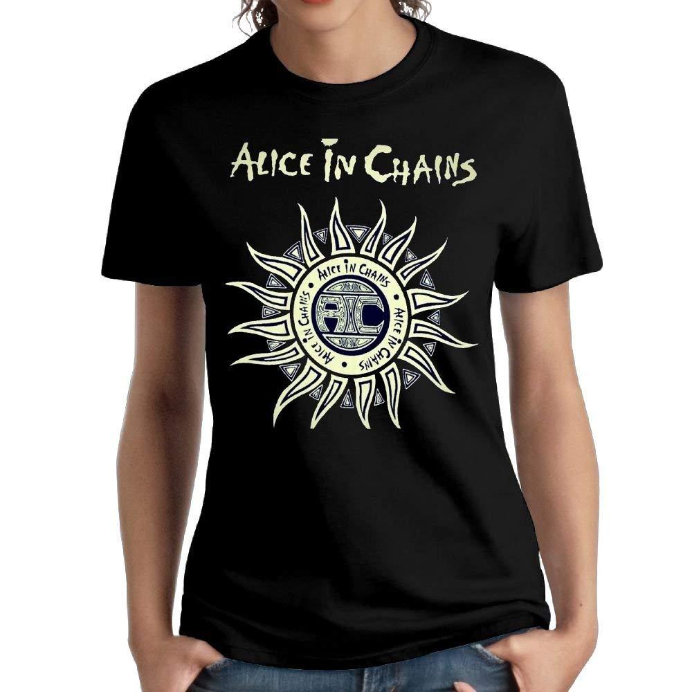 Fssatung Woman Alice In Chains Particular Short Sleeve Top Shirt Fashion T Shirt Black