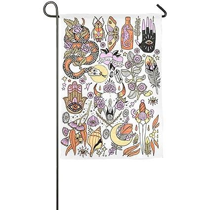 Amazon.com: Cyril65Sincr Bandera de jardín mini tatuaje ...