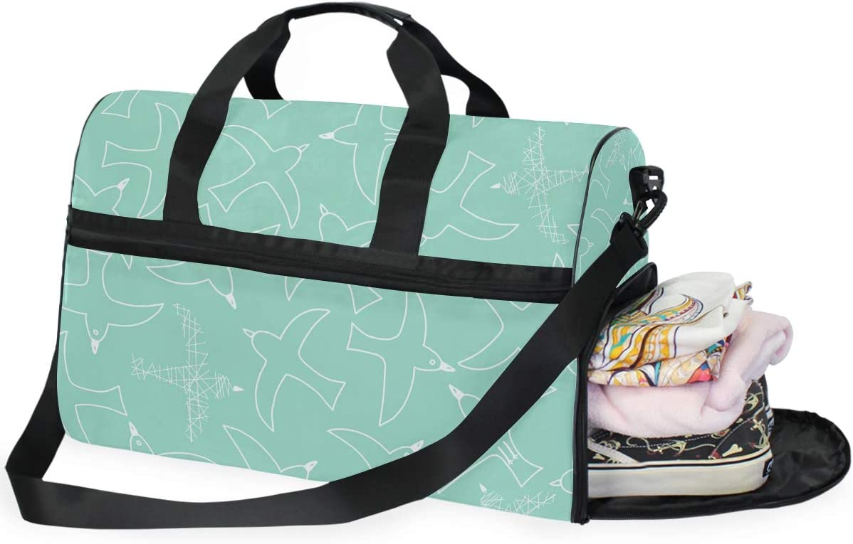 FANTAZIO Cartoon Pigeon Sports Bag Packable Travel Duffle Bag Lightweight Water Resistant Tear Resistant