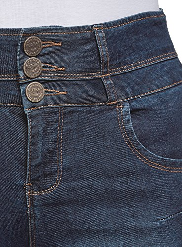7900w Skinny Jean oodji Ultra Haute Femme Taille Bleu 0nnBxPTv