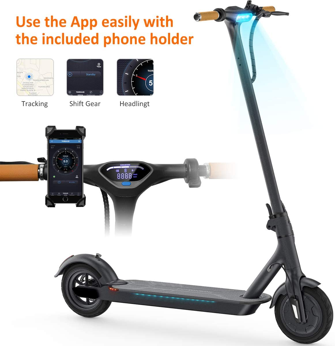 Amazon.com: TOMOLOO L1 Patinete eléctrico y patinete ...