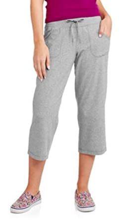 Danskin Now Women's Active Knit Capri (Medium Grey Heather size ...