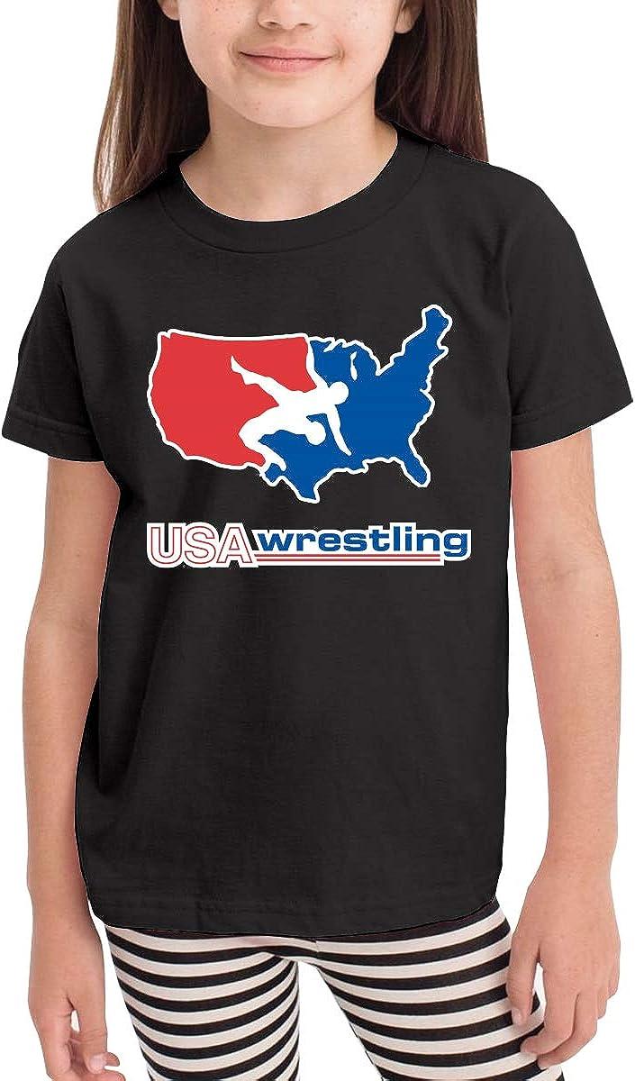 Queen Elena USA Camisetas de algodón para niños y niñas con Estampado de Dibujos Animados Negro Negro (5-6 Años: Amazon.es: Ropa y accesorios