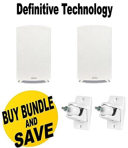 Definitive Technology ProMonitor 1000 Bookshelf Speakers Pair White Pro Mount