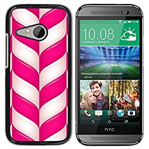 Paccase / SLIM PC / Aliminium Casa Carcasa Funda Case Cover para - Candy Cane Christmas Holidays Winter Mint - HTC ONE MINI 2 / M8 MINI