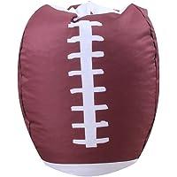 Junshion Football Shape Stuffed Animal Plush Toy Bean Bag Sport Style Storage Soft Pouch Double Zipper Fabric Chair 2…