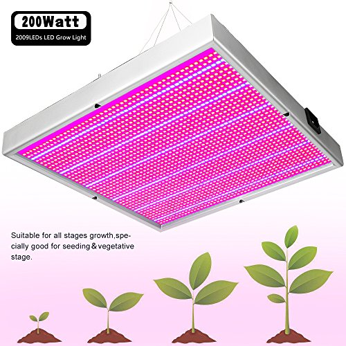 LVJING 60W T8 LED Grow Tube 4 Feet, Indoor Plant Grow