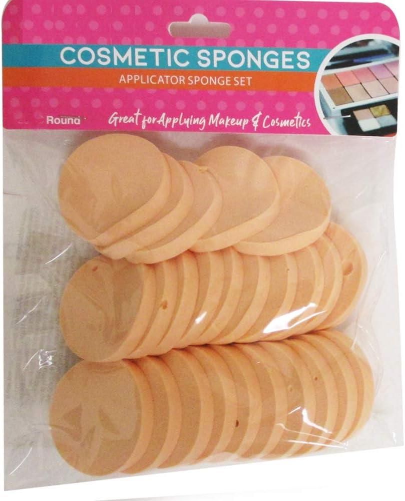 16 Cosmetic Sponge Round Foam Pad Make Up Applicator Foundation Powder Blender