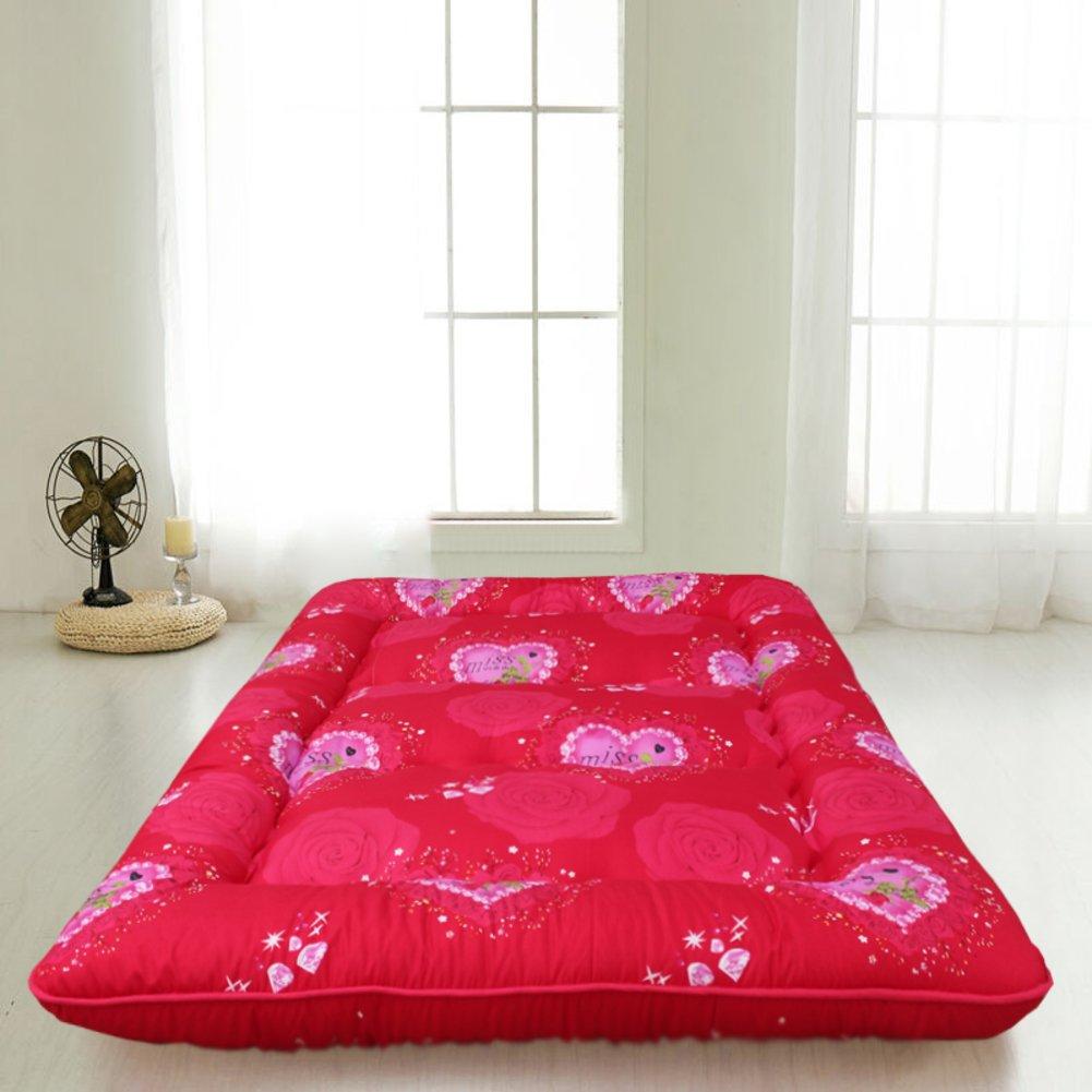 床を厚く マットレス パッド カバー 地面暖かいアンチス キッド畳ベッド トッパー マットレス 1.2 折りたたみ ツイン マットレス 1.5 m ベッド マットレス 1.8 メートル-F B07CQHYFR4