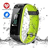 ESOLOM Fitness Tracker HR, Color Screen Activity Tracker with Heart Rate Monitor, IP68 Waterproof Wristband Sleep Monitor Pedometer with Calorie Counter, 14 Sport Modes Smart Watch for Men Women Kids