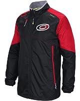 Men's Carolina Hurricanes Men's Reebok Black Center Ice Rink Full Zip Kinetic Fit Jacket