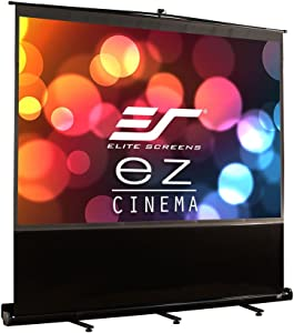 Elite Screens ezCinema Series, 135-INCH 4:3, Manual Pull Up Projector Screen, Movie Home Theater 8K / 4K Ultra HD 3D Ready, 2-YEAR WARRANTY, F135NWV