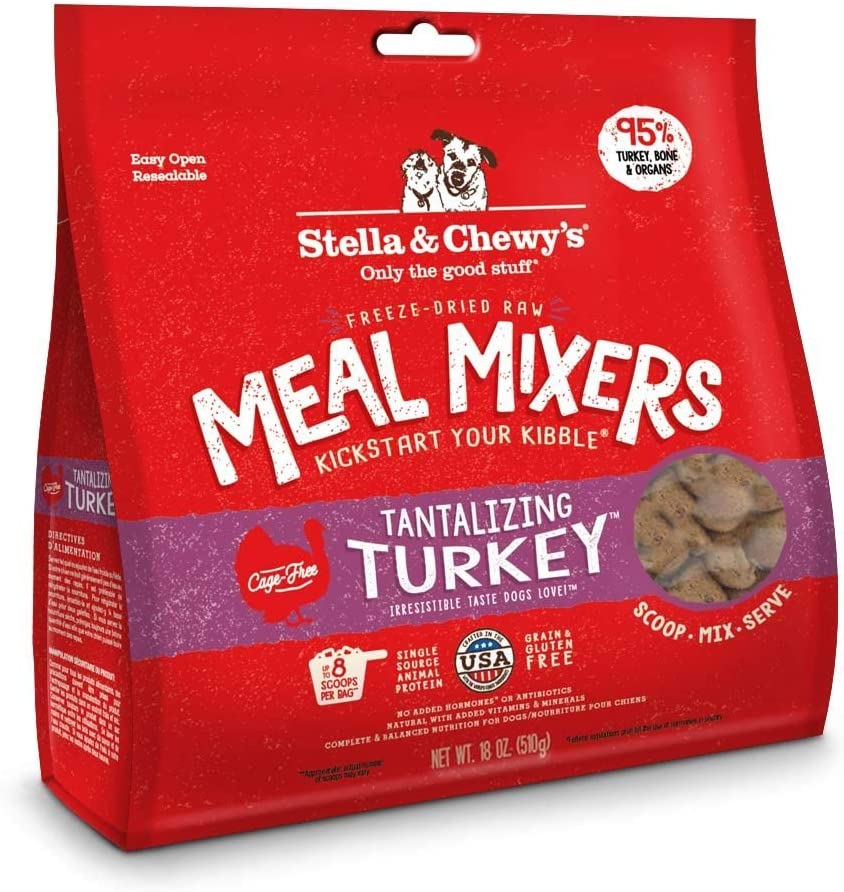 Stella & Chewy's Freeze-dried Raw Tantalizing Turkey Meal Mixers Dog Food Topper, 18 oz bag