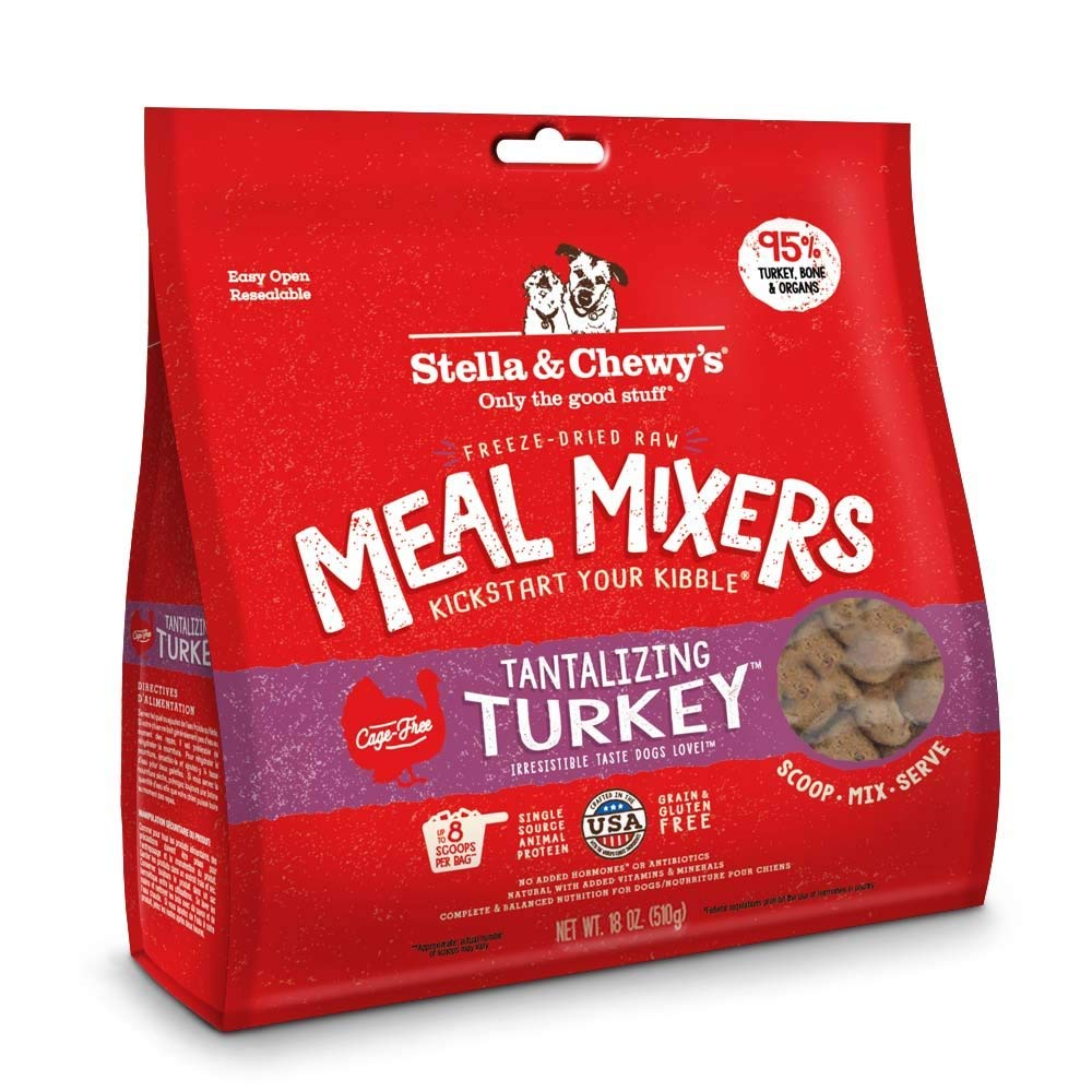 Stella & Chewy's Freeze-dried Raw Tantalizing Turkey Meal Mixers Dog Food Topper, 18 oz bag by Stella & Chewy's