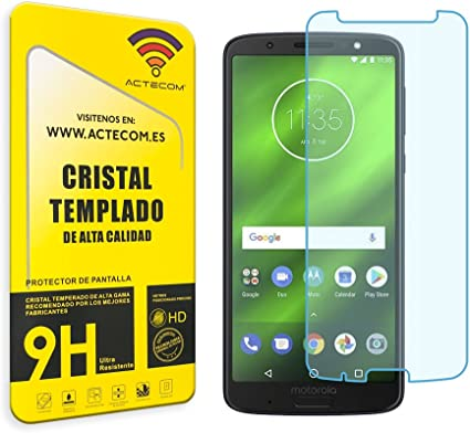 actecom® Protector DE Pantalla para Motorola Moto G6 Plus Cristal ...