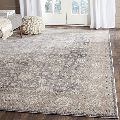 Safavieh Sofia Collection SOF330B Vintage Light Grey and Beige Distressed Area Rug (8' x 11') by Safavieh