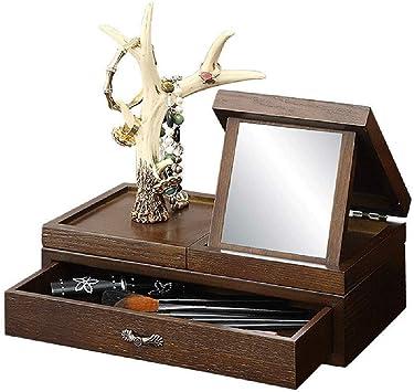 Caja decorativa joyería creativa armario de madera joyería con el ...