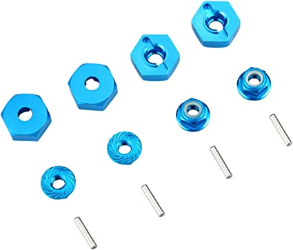 RC 1:10 5MM Thickness 12mm Wheel HEX 5.0 Hubs Drive Adaptor Pins /& Screws FGON