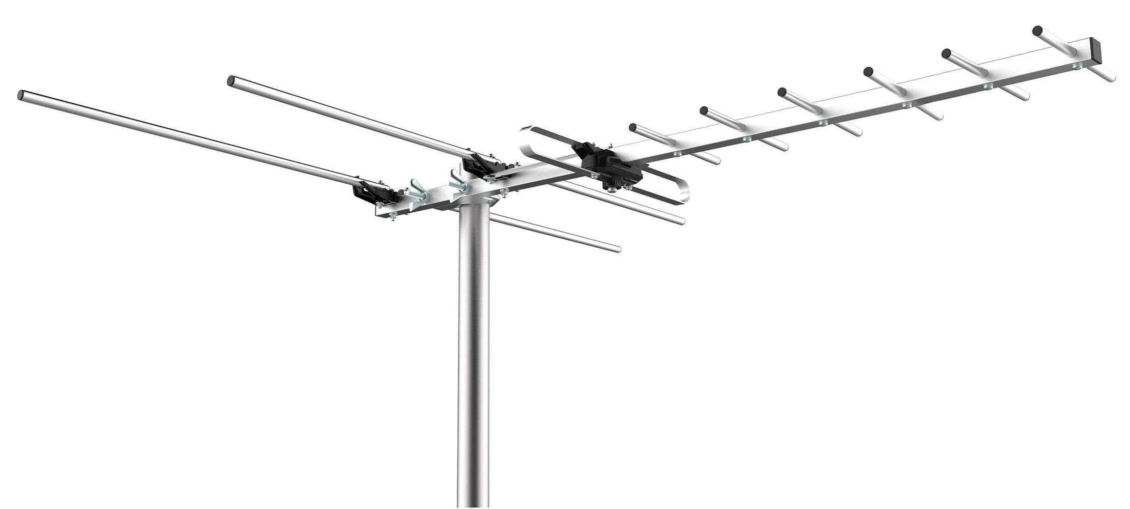 Mediasonic HOMEWORX HDTV Outdoor Antenna - 80 Miles Range Support UHF/VHF (HW-27UV)