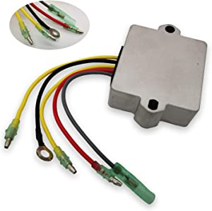 Voltage Regulator Rectifier 5 Wire Replaces Sierra 18-5743 815279-5 815279-3 883072T 856748 8M0084173 854515T1 854515 8301792 815279T 830179T for 12V Mercury Mariner Outboard Force 12 Volt