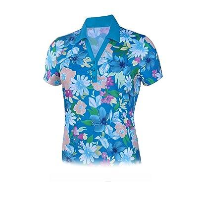 Monterey Club Ladies Dry Swing Daisy Floral Print Contrast Shirt #2652