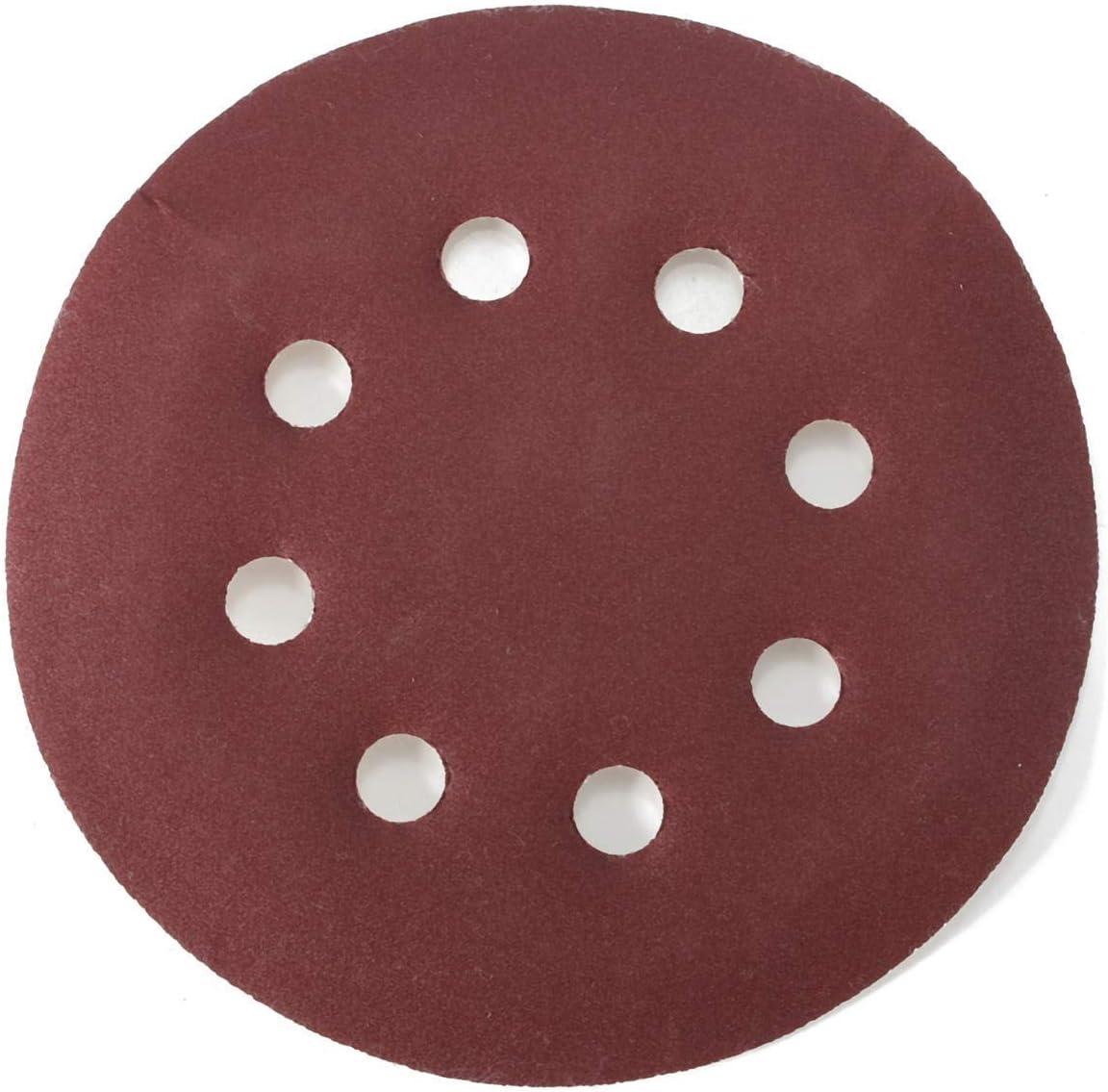 ZXY-NAN 8 Holes Abrasive Polishing Sandpaper Sand Sheets 25pcs 400 Grit 5 Incch Sanding Disc Set Grinding and Polishing