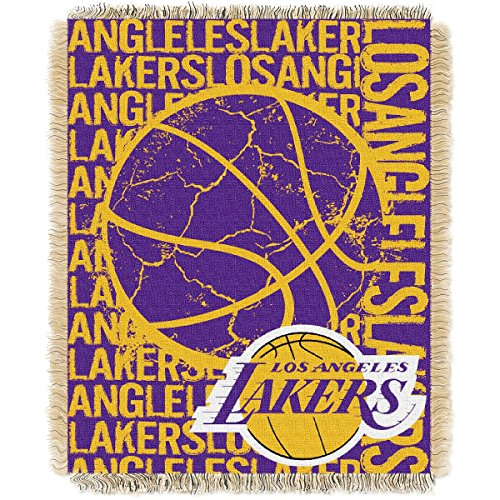The Northwest Company Los Angeles Lakers Double Play Woven Jacquard Throw Blanket