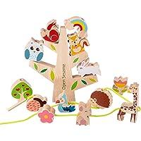 SunshineFace Baby Stapelen Speelgoed Set Houten Bos Stapelen Balancing Speelgoed Vroeg Educatief Leren Rijgen Speelgoed…