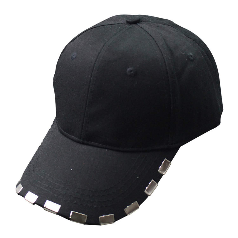 PsemesP Newly Design Hip hop Rivet Baseball Caps Long Belt Summer Hat for Women Men