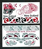 Maori Red & Black Temporary Tattoos / Set of 13