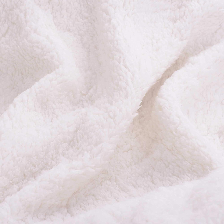228cm/×274cm Sochow Plaid Sherpa gris Polaire Polyester