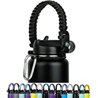 WEREWOLVES Paracord Handle - Fits Wide Mouth Bottles 12oz to 64oz - Durable Carrier, Paracord Carrier Strap Cord with…