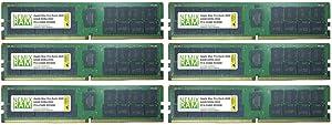 384GB 6x64GB DDR4-2933 PC4-23400 RDIMM Memory for Apple Mac Pro Rack 2020 7,1 by NEMIX RAM