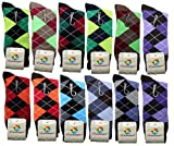 USBingoshopTM Mens Cotton Dress Socks (10-13, Argyle-2)