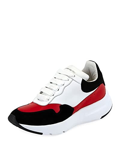 5fac2eca4b5c3 Amazon.com | Alexander McQueen McQueen Leather Runner Sneakers ...