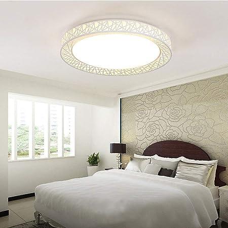 Plafonnier LED nid doiseau lampe ronde plafonnier minimaliste moderne acrylique salon//chambre /à coucher//cuisine//balcon /éclairage moderne,Whitelight,50cm