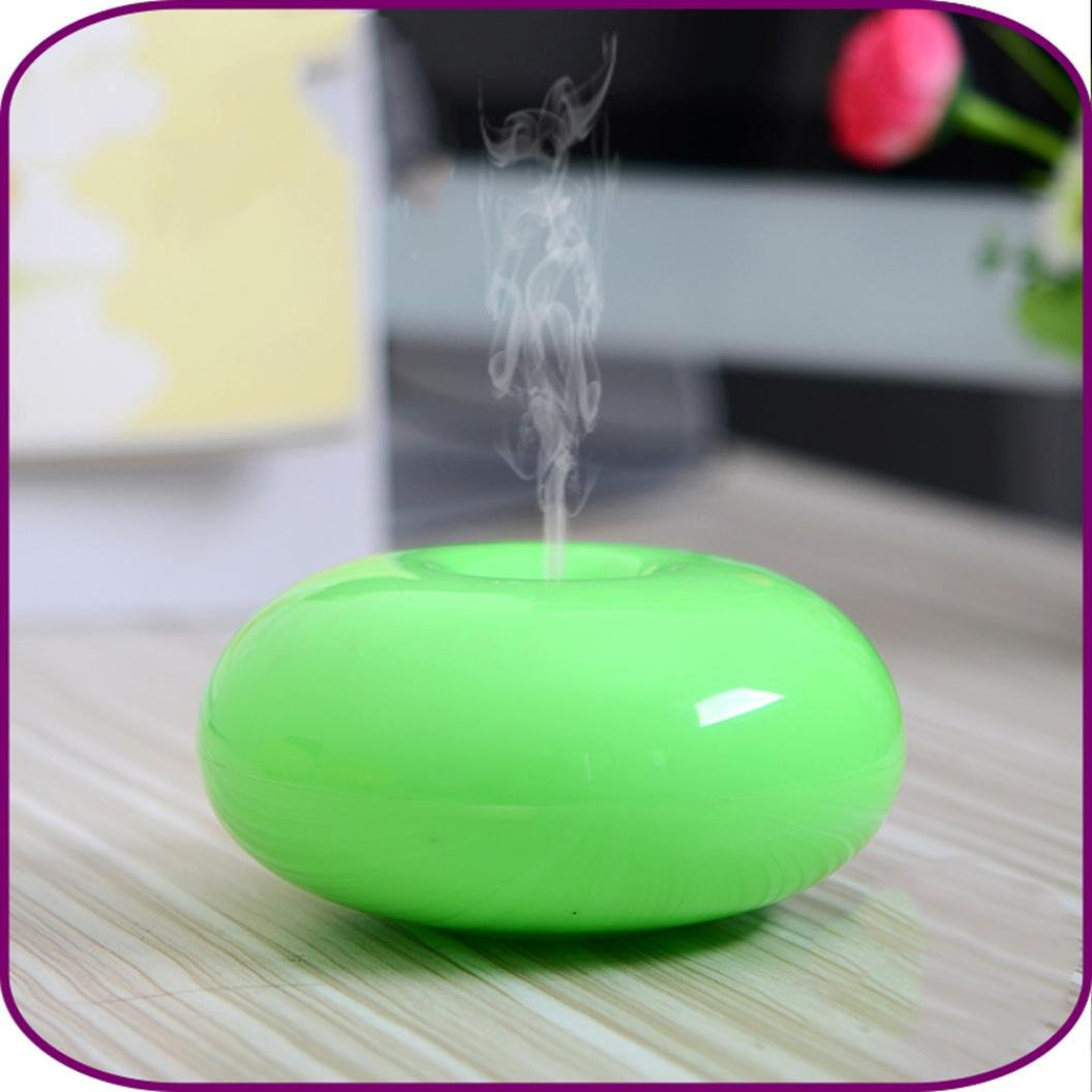 Gotd Air Aroma Essential Oil Diffuser Humidifier - 175ML Diffuser Cool Mist Humidifier Air Purifier LED Use with 4 Hours Auto Shut-off for Home, Yoga, Office, Spa (Green)