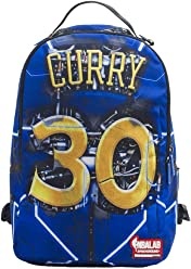 Sprayground NBA Lab Curry Elysium Backpack: Blue/Yellow