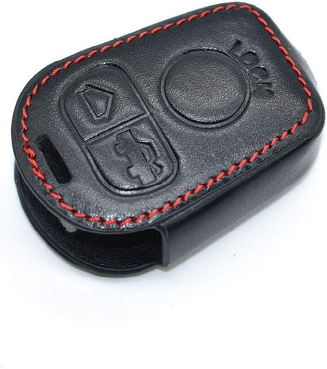 Happyit Leather Car Key Cover Case Keychain for BMW E31 E32 E34 E36 E38 E39 E46 Z3 Z4 3 Buttons