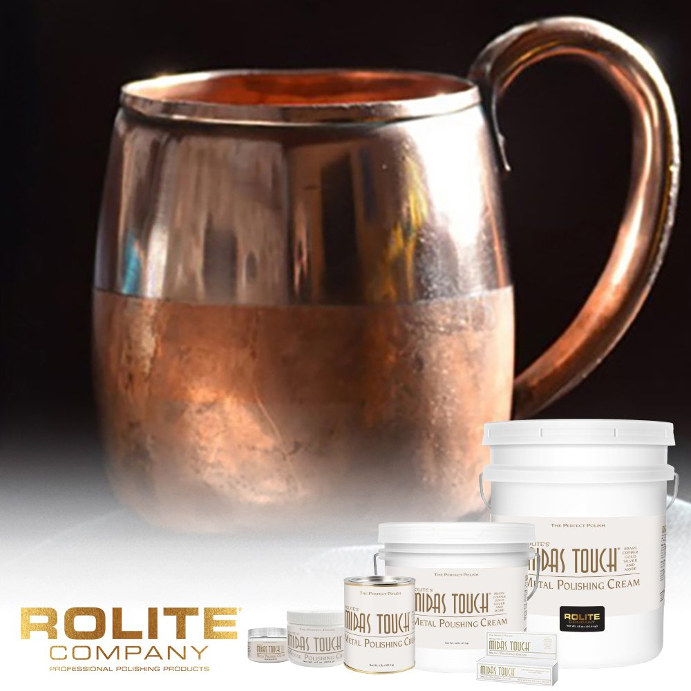 Rolite's Midas Touch Metal Polishing Cream (2lb) with Jewelers Rouge for Gold, Brass, Copper, Bronze, Platinum, Pewter, Sterling Silver 6 Pack by Rolite Company (Image #3)